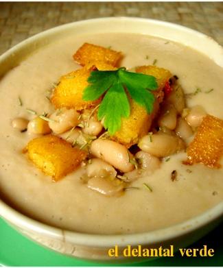sopa de judias blancas