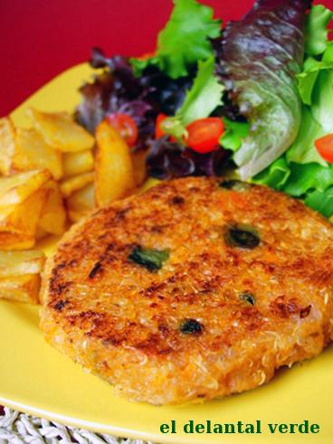 hamburguesas de quinoa el delantal verde