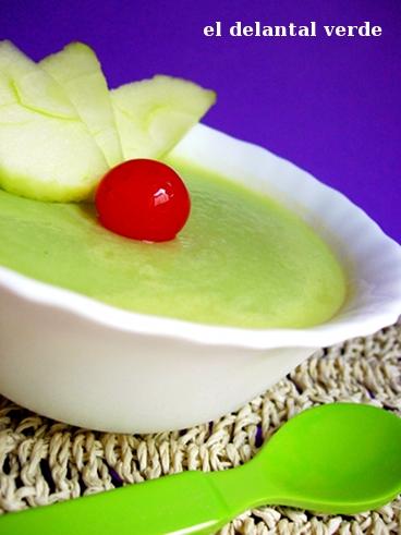 mousse de manzana verde